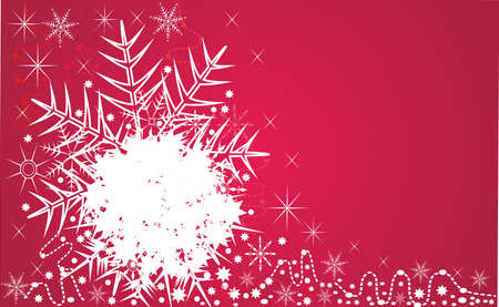 The decorative winter red christmas background. Editable and scalable vector
