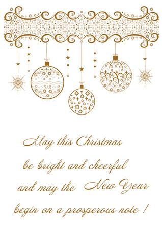 Mooie feestelijke kaart met betrekking tot bewerkbare illustratie van vakantie Merry Christmas.