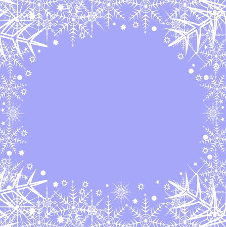 Winter background with snowflakes editable and scalable vector illustration