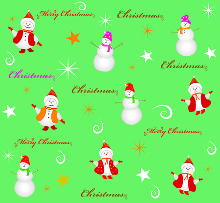 Winter holiday vector illustration with a decorative pattern