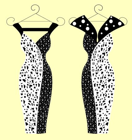 Fashion dresses for women  editable and scalable vector illustration