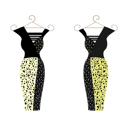 Dress for women editable and scalable vector illustration