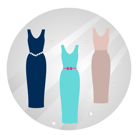 Dresses for  women  editable and scalable vector illustration Zdjęcie Seryjne