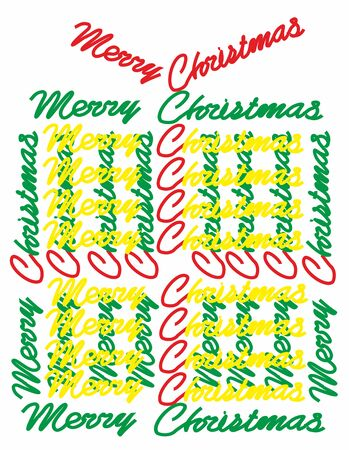 Christmas gift with text Merry Christmas.Scalable and editable vector Zdjęcie Seryjne