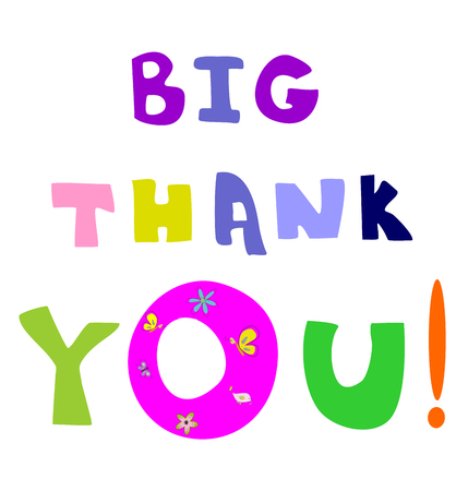 Big thank you text editable and scalable vector illustration EPS10