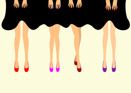 Female feet in shoes vector illustration editable and scalable vector illustration EPS10