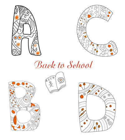Letters Back to School editable and scalable vector illustration EPS10 illustration
