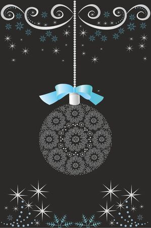 ?hristmas and New Year Holiday vector card Ilustracja