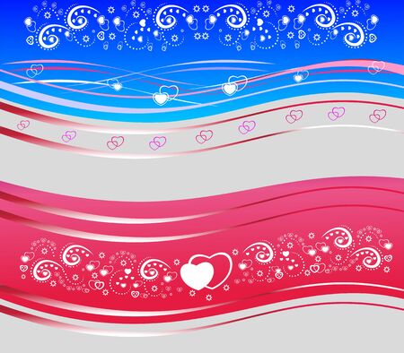 Valentines beautiful abstract red and blue background