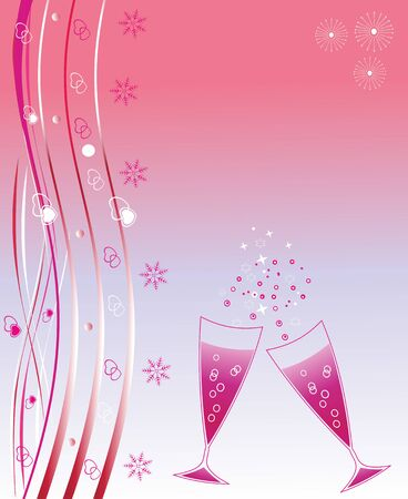 Holiday wineglasses. Scalable and editable vector illustration;