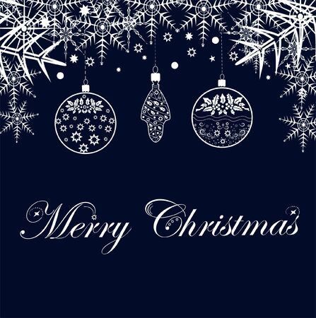 Congratulation Merry Christmas on a festive background editable and scalable vector illustration