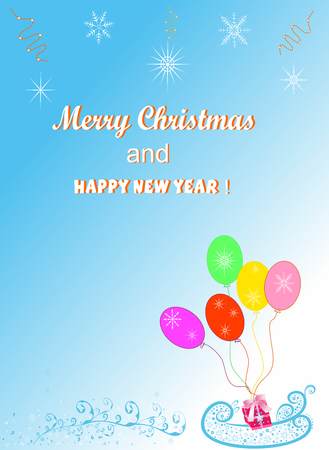 Christmas background for congratulations  easily editable and scalable vector illustration EPS10