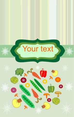 Design for frozen vegetables easily editable and scalable vector illustration EPS10