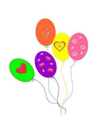 Balloons editable and scalable vector illustration EPS10 Zdjęcie Seryjne
