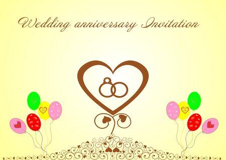 Wedding anniversary Invitation editable and scalable vector illustration EPS10