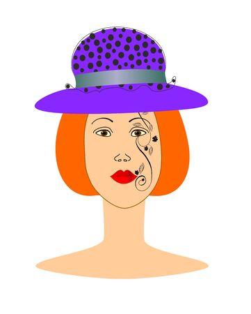 Painted face girl EPS10  easily editable and scalable vector illustration EPS10 Zdjęcie Seryjne - 92467902