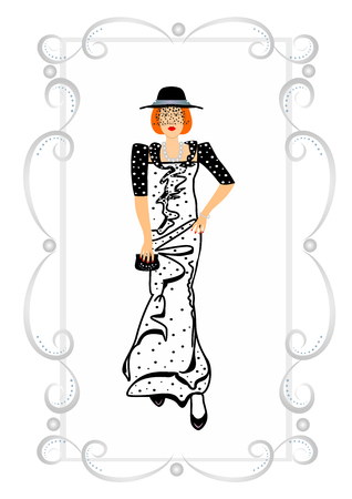 Stylish dresses for women editable and scalable vector illustration Zdjęcie Seryjne - 92310025