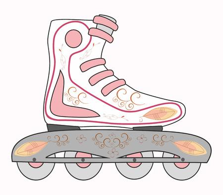 Roller Shoes illustration. Ilustracja