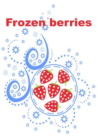 Baies congelées fond meilleure illustration vectorielle design abstrait Banque d'images - 92628037