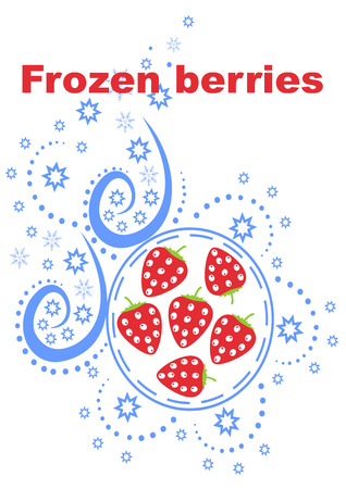 Frozen berries background best abstract design vector illustration