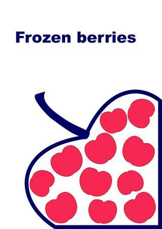 Frozen berries background best abstract design vector illustration