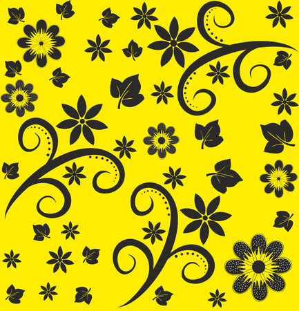 Seamless abstract floral pattern.Editable and scalable vector Ilustracja