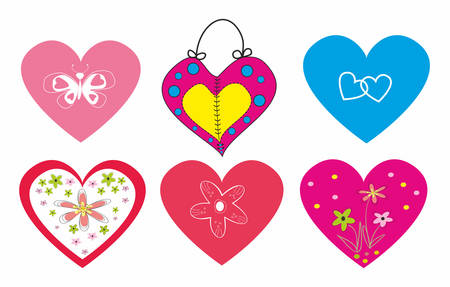 A set of hearts for Lovers.Vector illustration.