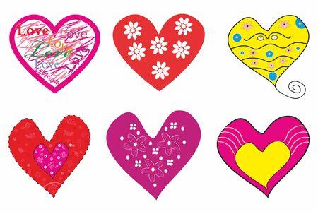 Beautiful set of romantic hearts.