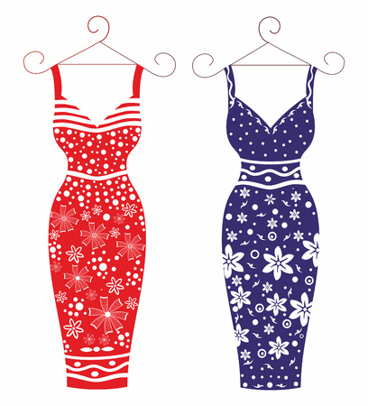 Dress for women. Stylish scalable and editable vector Ilustracja