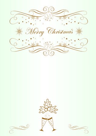 Background for congratulations on Christmas easily editable and scalable vector illustration EPS10 Ilustracja