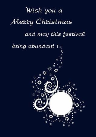 Mooie achtergrond met betrekking tot bewerkbare en schaalbare vectorillustratie van vakantie Vrolijke Kerstmis Stock Illustratie