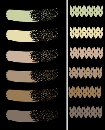 Khaki color palette pattern original vector illustration Illustration