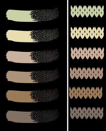 Khaki color palette pattern original vector illustration Illustration