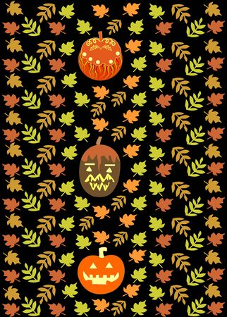 Halloween repeating background decorative elements editable and scaleable vector illustration