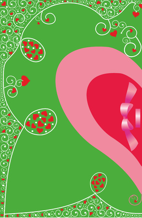 Background with hearts for Valentine's greetings.Editable vector Ilustracja