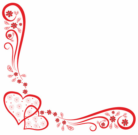 Decorative pattern with hearts. Scalable and editable vector Illustration