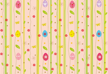 Easter seamless background. Festive spring religious scalable vector