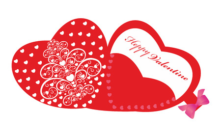 Happy Valentine's Card  with heart design editable vector