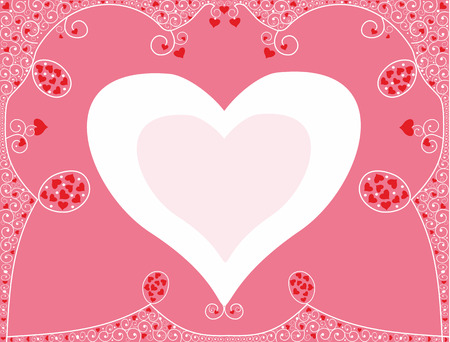 Romantic background for congratulation with hearts.Editable and scalable vector