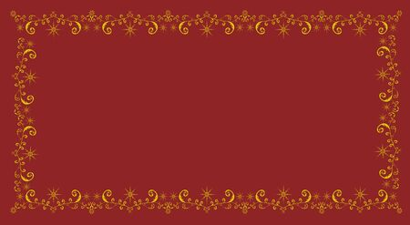 Christmas frame on red background for festive decoration