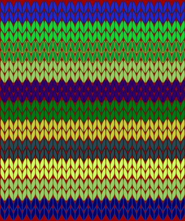 Seamless pattern with colorful knitted woolen threads.