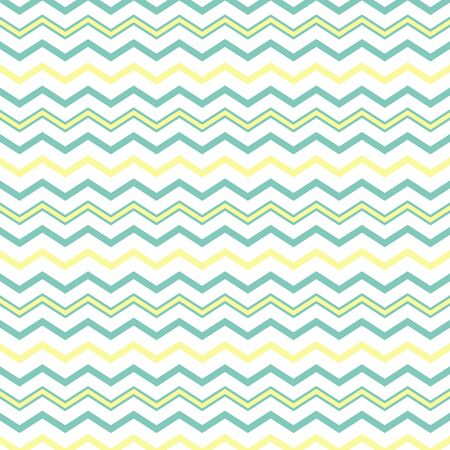Vector clip art: Abstract background of multi-colored zigzag lines Aqua Green-white-turquoise-yellow. Background for design, pattern. Pastel colors, zigzag lines. Texture for fabric, site, postcards. Texture for fabric, site, postcards. Bright vector stripes, space for text and design.