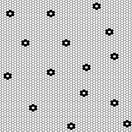 Vektor-Fischnetzmuster im Zierstil. Stellen Sie Vektor nahtlose Musterstrümpfe Kapronmuster