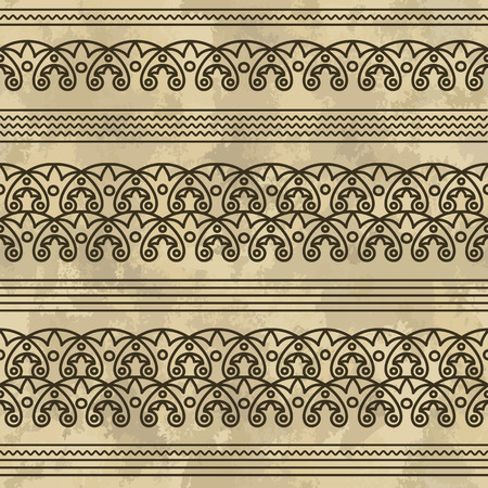 Egyptian ornament. vector paint brushes for drawing ornaments Foto de archivo - 112224291