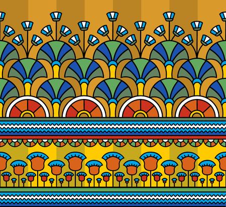 Adorno egipcio Patrón egipcio. Patrones sin fisuras en estilo egipcio. Ilustración vectorial