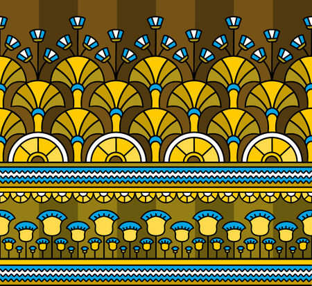 Egyptian ornament.Egyptian pattern. Seamless pattern in Egyptian style. Vector illustration  イラスト・ベクター素材