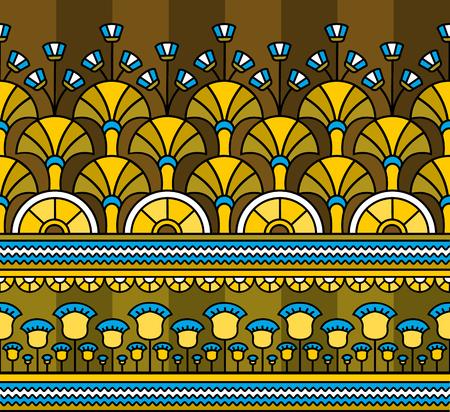 Egyptian ornament.Egyptian pattern. Seamless pattern in Egyptian style. Vector illustration Foto de archivo - 112224293