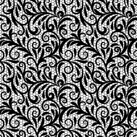 Vintage lace ornament, elegant tulle texture, vector seamless pattern. Vector pattern of ungainly patterns of stockings of guipure