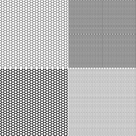 Patrón de rejilla de vector en estilo ornamental. Establecer vector patrón transparente medias capron patrón