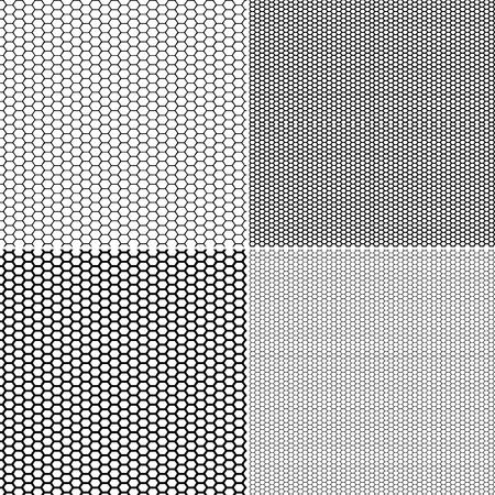 Vector Fishnet patroon in decoratieve stijl. Vector naadloze patroon kousen kapron patroon instellen